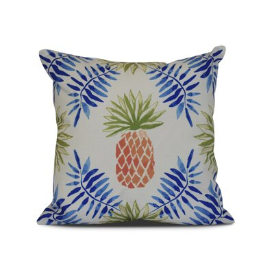 Costigan Outdoor Throw Pillow Size: 16 H x 16 W x 3 D, Color: Blue