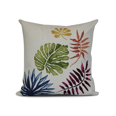 Costigan Brambles Floral Print Outdoor Throw Pillow Size: 16