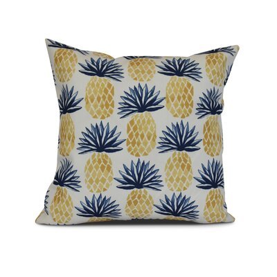 Costigan Pineapple Stripes Throw Pillow Color: Blue, Size: 18 H x 18 W x 3 D