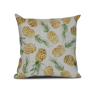 CostiganTossed Pineapples Throw Pillow Size: 20 H x 20 W x 3 D