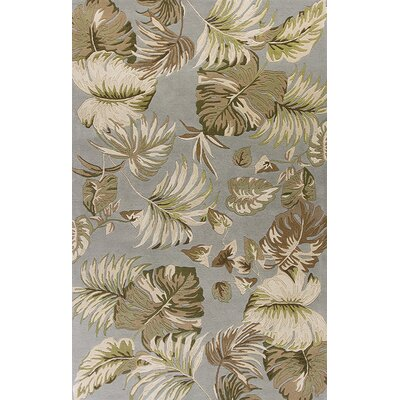 Antigua Hand-Tufted Slate/Green Area Rug Rug Size: Runner 23 x 8