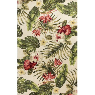 Roseleaf Hand-Tufted Multi-Colored Area Rug Rug Size: 79 x 106