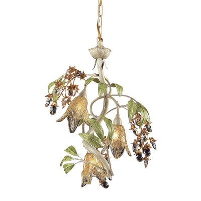Evelyne 3-Light Seashell Mini Chandelier