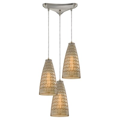 Saba 3-Light Cascade Pendant