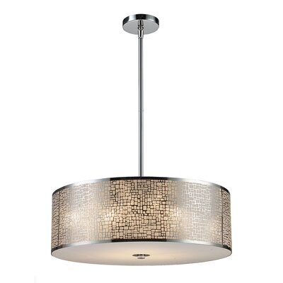 Pyla 5-Light Drum Pendant Color: Aged Bronze