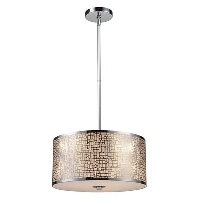 Pyla 3-Light Drum Pendant Finish: Polished Stainless Steel