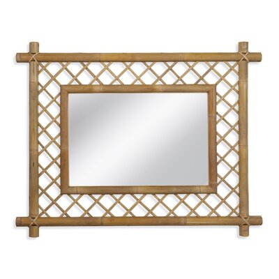 Bamboo Latticework Wall Mirror