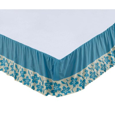 Groveland Bed Skirt Size: King, Color: Azure