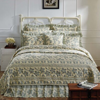 Groveland Quilt Color: Sage, Size: Queen
