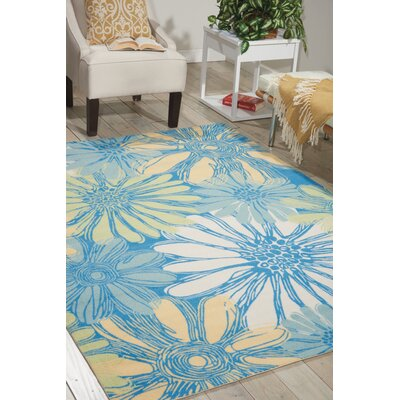 Galina Blue Indoor/OutdoorArea Rug Rug Size: 23 x 39
