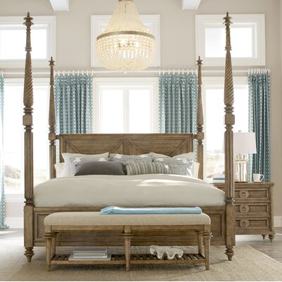 Akrotiri Four poster Bed Size: Queen