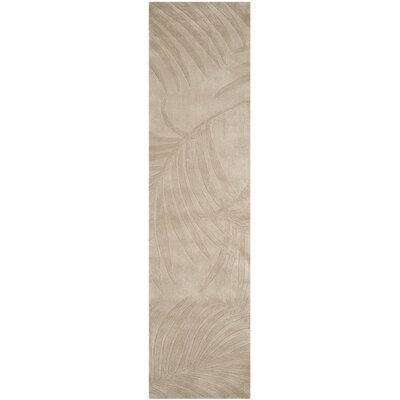 Palmnue Hand-Hooked Gray Area Rug Rug Size: Runner 23 x 9