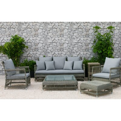 Fotau 6 Piece Deep Seating Group with Cushion