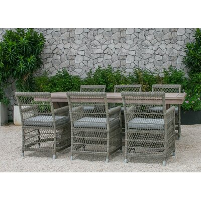 Fotau 7 Piece Dining Set with Cushion