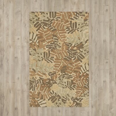 Palm Leaf Hand-Loomed Spud Area Rug Rug Size: 8 x 10