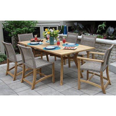 Pelican Nautical Teak 7 Piece Dining Set
