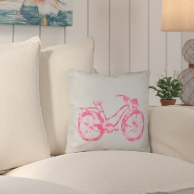 Augustina Life Cycle Geometric Outdoor Throw Pillow Color: Pink