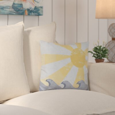 Sunbeams Geometric Outdoor Throw Pillow Color: Yellow