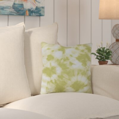 Chillax Geometric Outdoor Throw Pillow Color: Green