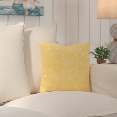 Asha Dorothy Dot Geometric Outdoor Throw Pillow Color: Yellow