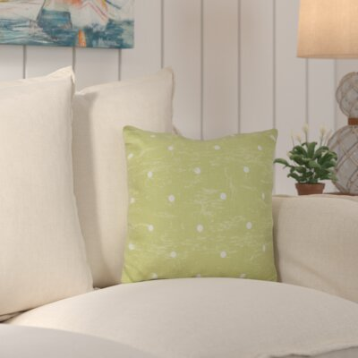Asha Dorothy Dot Geometric Outdoor Throw Pillow Color: Green
