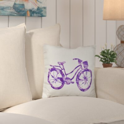 Augustina Life Cycle Geometric Outdoor Throw Pillow Color: Purple
