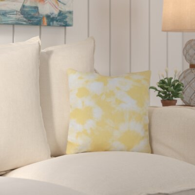Chillax Geometric Outdoor Throw Pillow Color: Yellow