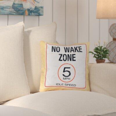 No Wake Outdoor Throw Pillow Color: Yellow