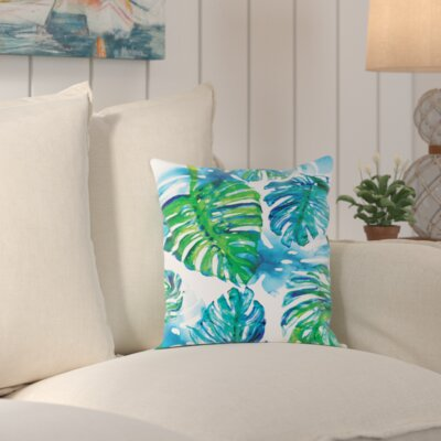 Aleah Jungle Print Outdoor Throw Pillow Size: 18 H x 18 W x 2 D