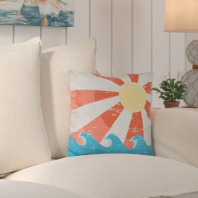 Evette Sunbeams Geometric Outdoor Throw Pillow Color: Orange