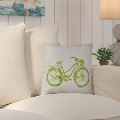 Augustina Life Cycle Geometric Outdoor Throw Pillow Color: Green