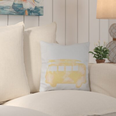 Marita Beach Drive Geometric Outdoor Throw Pillow Color: Yellow