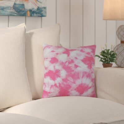 Chillax Geometric Outdoor Throw Pillow Color: Pink