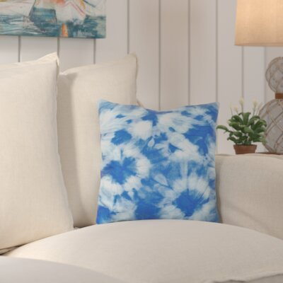 Tinisha Chillax Geometric Outdoor Throw Pillow Color: Blue