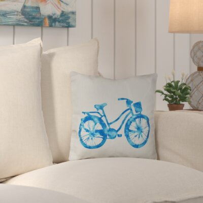 Augustina Life Cycle Geometric Outdoor Throw Pillow Color: Turquoise