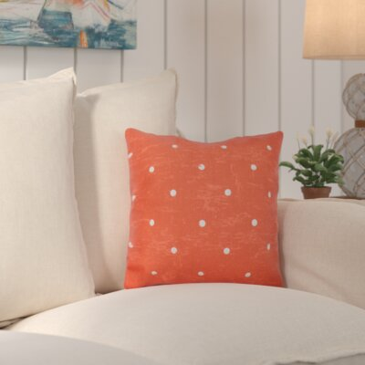 Asha Dorothy Dot Geometric Outdoor Throw Pillow Color: Orange