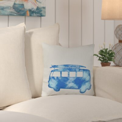 Marita Beach Drive Geometric Outdoor Throw Pillow Color: Blue
