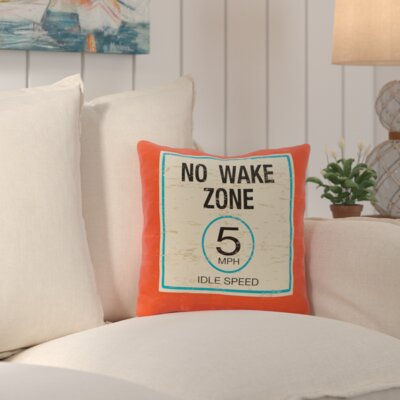 Corazon No Wake Outdoor Throw Pillow Color: Orange
