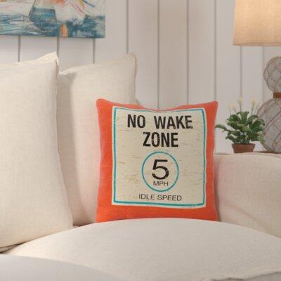 No Wake Outdoor Throw Pillow Color: Orange