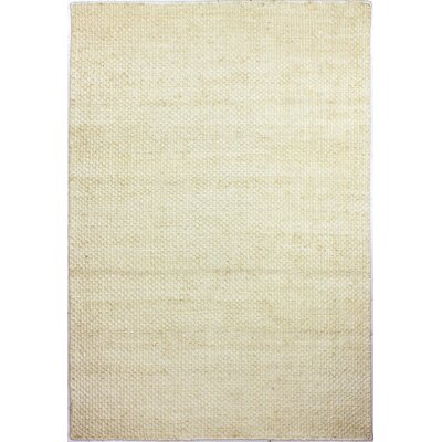 Brooksville Hand-Knotted Cream Area Rug Rug Size: 5' x 7'6