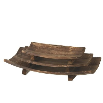 3 Piece Arched Paneled Tray Set