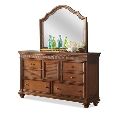 Leander 6 Drawer Combo Dresser with Mirror