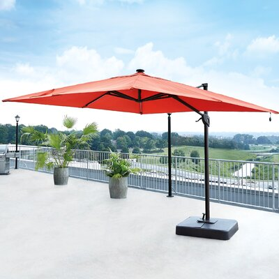 10 Gypsou Square Cantilever Umbrella Fabric: Coral