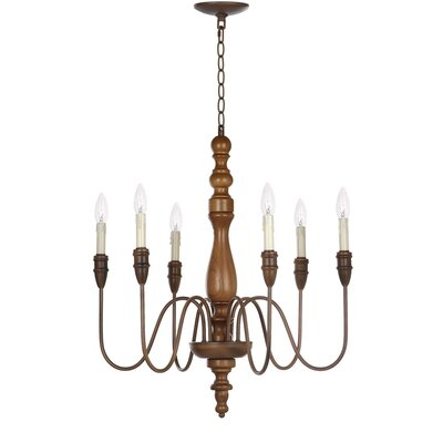 Stoughton 6-Light Candle-Style Chandelier