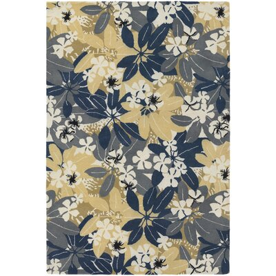 Bingham Designer Blue/Beige Area Rug Rug Size: Rectangle 2' x 3'