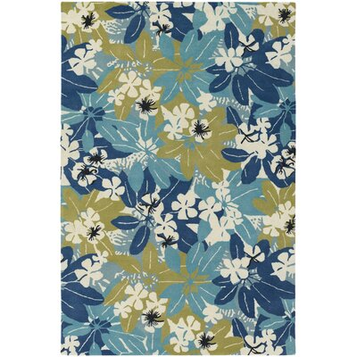 Bingham Designer Blue/Green Area Rug Rug Size: Rectangle 5 x 76