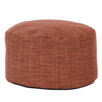 Rollinsford Foot Pouf Ottoman Color: Coral