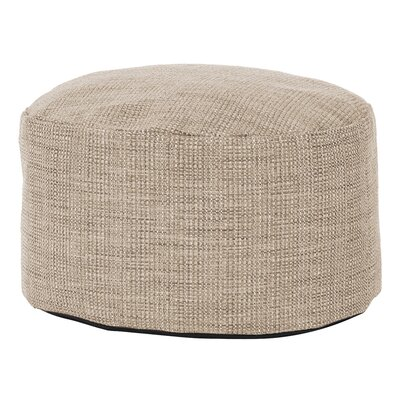 Rollinsford Foot Pouf Ottoman Color: Stone