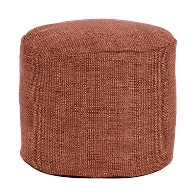 Springvale Tall Pouf Ottoman Color: Coral