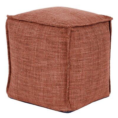 Piermont Square Pouf Ottoman Color: Coral